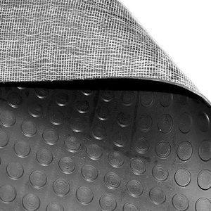Piso de caucho antiderrapante tachonado